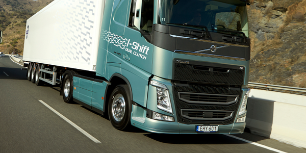 European truck editors tried out the new transmissions on demanding hills in Spain. Photo: Volvo...