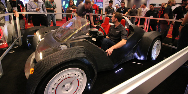 The Strati is a small electric car produced largely via 3D printing. How would that kind of...