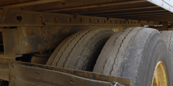 Tread wear is the most obvious defect-- and one that immediately catches an inspector's eye....