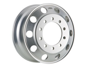 Accu-Armor aluminum wheels are highly resistant to scratching and scuffing; filiform corrosion; high- and low-pH chemicals commonly used in truck washes; and common chemicals used in de-icing road surfaces.