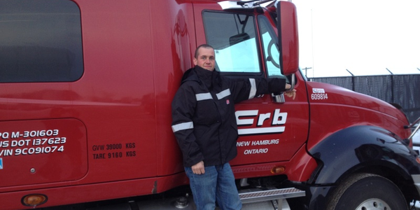 Gaston Töpfer, a long-haul driver with Erb Transport, participated in TCA's second Trucking's...