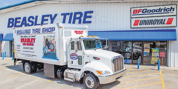Beasley Tire offers mobile services that perform on-site alignment and tire balancing on large...