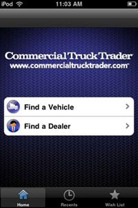 Commercial Truck Trader's new application is GPS-sensitive.