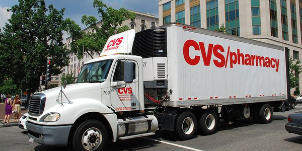 CVS's fleet of Class 8 haulers use routing software to analyze the best routes for drivers to...