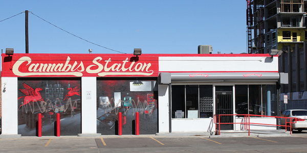 Cannabis station, a medical marijuana dispensary, is located at the site of a former gas station...