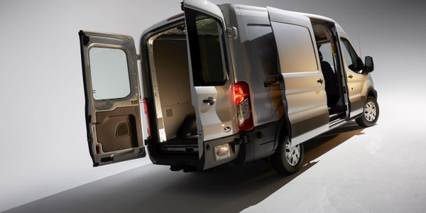 Ford says its full-size Transit became America's best-selling commercial van six months after...