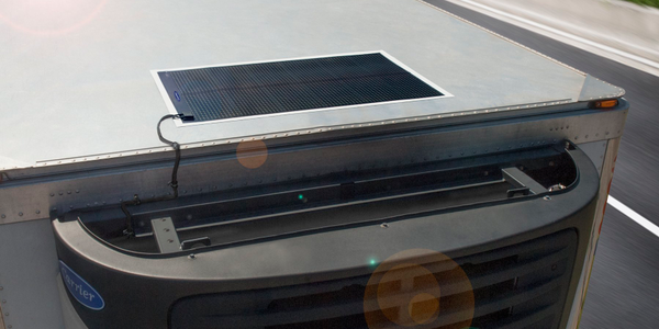 Carrier Transicold Thin Film Flexible Solar Panels are designed to maintain the refrigeration...