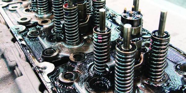 Chevron conducted a live teardown of a Detroit DD15 engine, with more than 400,000 miles of...