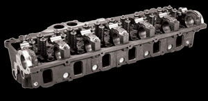 Series 60 cylinder heads are among the components remanufactured in Detroit Reman's plant at Toole, Utah.