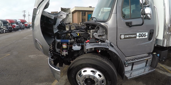 Detroit's new DD5 diesel is a 5.1L engine designed for urban delivery/service applications in...