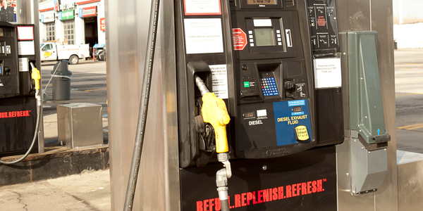 "TravelCenters of America's DEF dispensers, which it calls the ""DEF+1,"" pump both diesel fuel and..."