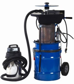 The OTC 5286 is compact enough to be transported onto construction, industrial, and agricultural job sites for on-site cleaning.