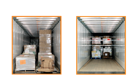 Loading cargo in a traditional fashion would elave trailers half empty. Cargo loaded with the...