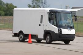 Driving Navistar's eStar Van