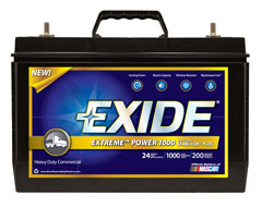 Exide Technologies launched the Extreme Power 1000, its newest heavy-duty battery.