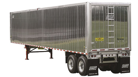 Enviro Recyclers Inc. uses East Genesis smooth-sided aluminum refuse trailers like this one to...