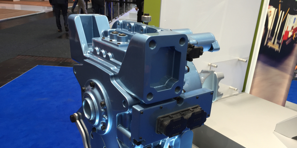 Eaton showed off a four-speed transmission designed for electric vehicles, with the initial...
