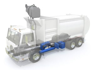 Eaton's hydraulic hybrid system is ideal for use in refuse applications.