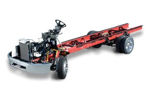 The Freightliner chassis is equipped with a standard Allison 1000/2000 Series transmission.