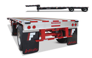 Fontaine Trailer now features the RASR Routed Aluminum SideRail on its 2012 line of Infinity trailers