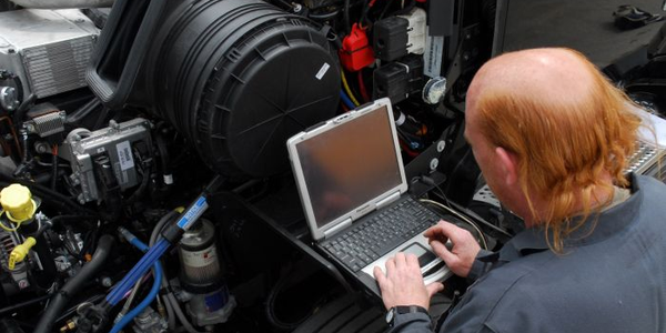 Technicians can set various engine parameters with a laptop or a specialized reader, often...