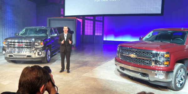 GM's Jeff Luke describes engineering features of the 2014 GMC Sierra 1500 and Chevrolet...
