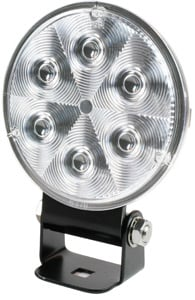 The lamp's rugged UV, hard-coated, polycarbonate lens can be replaced if damaged.