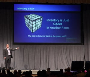 Jason Bader tells distributors at HDAW how to find cash in their businesses.
