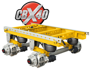 SAF and Holland hope their synergy will produce demand for new 5-inch round trailer axles to go into the CBX40 (shown) and the UX40.