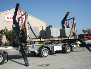 Lifting the demonstration load from the deck of the