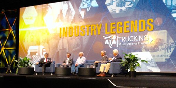 "A panel discussion of four ""Industry Legends"" at ATA MC&E. Photo: Evan Lockridge"