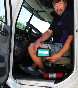 FMCSA chooses strictest option in EOBR rule; industry reaction supportive with reservations. (Photo by Trackwell ADS)