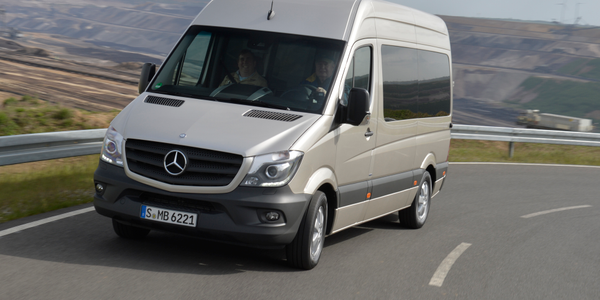 The Sprinter chassis features independent wheel suspension at the front with transverse leaf...