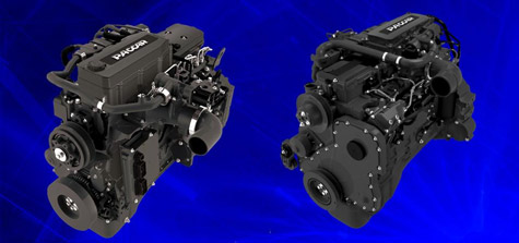 Kenworth's 2010 lineup of Medium-duty trucks will be equipped with Paccar PX-6 (left) and Paccar PX-8 (right) engines.