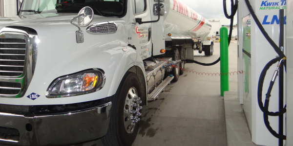 Kwik-Trip's LNG and CNG trucks use its public filling stations, including this one in La Crosse,...