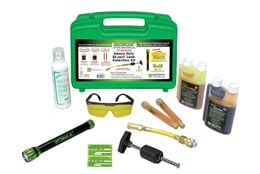 The TP-8647HD leak detection kit by Tracer features a cordless blue light LED detection flashlight.