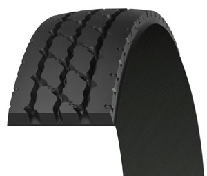 The XZY3 retread compound protects against aggression, chipping and cutting, while a center groove bottom protector guards the center channel from any stone drilling and also assists in ejecting any stones or debris from the groove.