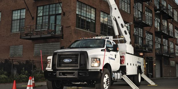 Ford's 2016 F-650 is being built in the U.S. at the company's Avon Lake, Ohio, assembly plant.
