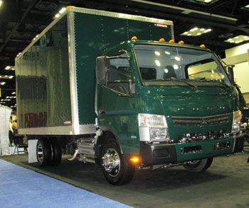 Fuso Canter LCOs include four 4x2 models and a unique 4x4. A new 3-liter 4-cylinder diesel is mated to a dual-clutch 6-speed automated mechanical transmission. (Photo by Tom Berg)