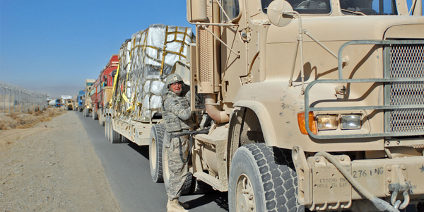 "The Army National Guard's ""Drive the Guard"" program is putting soldiers behind the wheel while..."