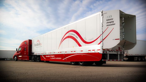 """This trailer owned by Illinois-based Nussbaum Transportation has both an aerodynamic """"boat tail""""..."""