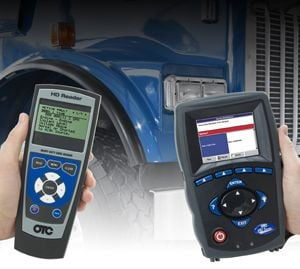Various hand-held diagnostic tools,  like these from OTC, offer different levels of diagnostic info.