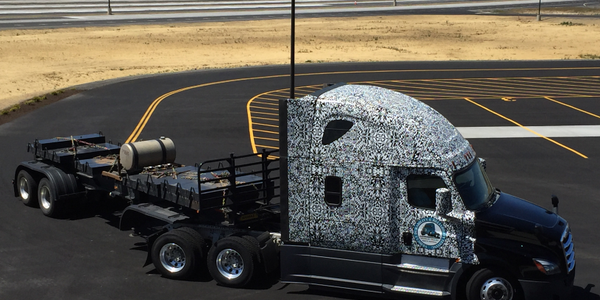 Trucks under development, like this camouflaged rig, will be put through their paces at the new...