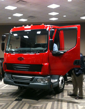 This concept truck was on display at NTEA event in advance of anticipated 2012 availability of Model 210 and Model 220 cabovers from Peterbilt.