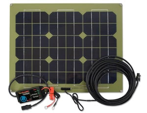 PulseTech's SP25 SolarPulse battery charger can charge, condition and maintain vehicle batteries.