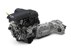Pentastar V-6 and TorqueFlite 8 automatic deliver up to 25 MPG in the upcoming 2013 Ram 1500 pickup.