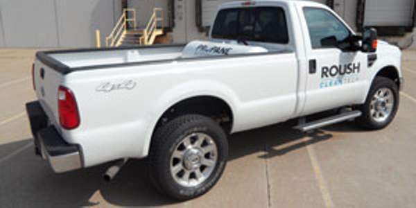 This 2009 F-250 looks like any other SuperDuty work truck except for its stout propane tank,...