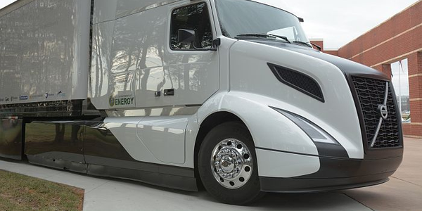 Volvo's SuperTruck uses advanced engine programming to reduce energy consumption and...