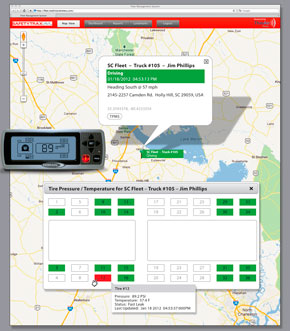 SafetyTrax and Doran have a new web-based software application that provides real-time updates for global position and vehicle tracking indicators along with tire pressures and temperatures for every vehicle in a fleet.