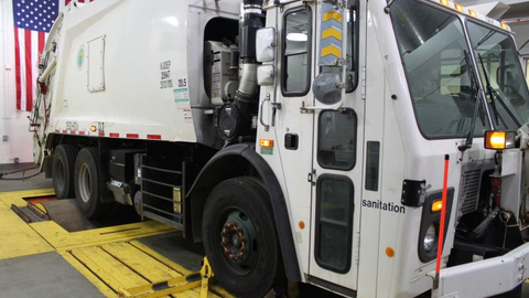 DSNY's dyno-equipped evaluation facility in Queens, N.Y., proved the engine stop-start system's...